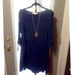 Plus Umgee Mineral washed blue Dress or Tunic.